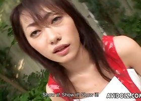 Sexy Japanese temptress is busy playing with her vibrating egg