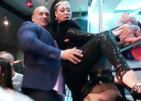Sex-hungry Amirah Adara arranges dirty orgy in the club