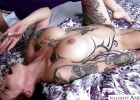 Pink haired floozie Anna Bell Peaks is a wild slut and she is good in bed