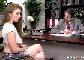 Naughty Lena Paul needs to be taught a lesson by a horny man