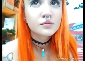 Adorable Redhead Camgirl Loves To Show Off On Cam