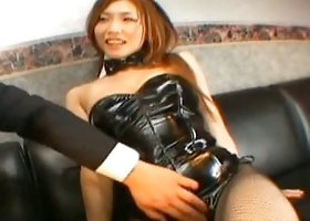 Kinky Asian hardcore with hot Emi Harukaze in a bunny costume