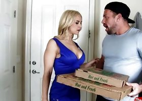 Busty Blonde Fucked By Muscled Delivery Guy