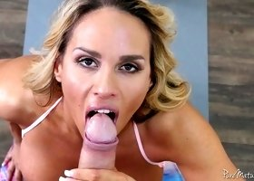 Big tittied sport milf Tegan James gets intimate with her fitness instructor