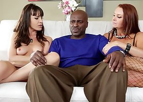 Janet Mason and Dana Dearmond try to seduce a black stud