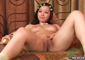 Hot Asian babe Courtney bangs her nice hole