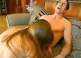 Samantha Idol fucks Peter North and lets him cum on her amazing butt