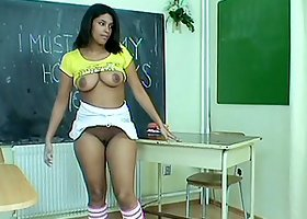 Naughty girl caned on the ass and fucked by her teacher