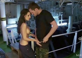 Hardcore Sex In Engine Room With Kortney Kane