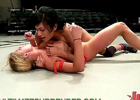 Hot ass Sluts in Catfight Asian with Strapon Fucking