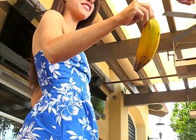 Anyah goes completely wild and penetrates her snatch with a banana