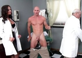 Horny woman is fucking her patients