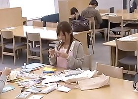 Gorgeous Kinky Asian Babe Getting Fucked in Public Library