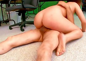 Banging Hot Boss wearing Glasses Jennifer White's Shaved Pussy