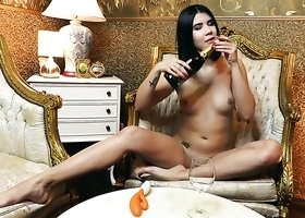 Amazing sexy Czech babe Lady Dee takes various poses during her solo