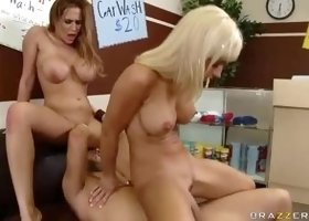 Threesome sex video featuring Alanah Rae, Jessica Lynn and Keiran Lee