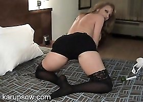 Sexy big butt on a hot milf in the hotel room