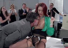 Monique Alexander is fucked by a coworker as every watches