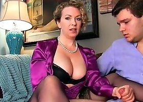 satin blouse let mommy jerk you off naughty boy