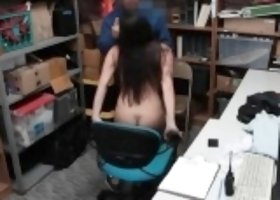 Nasty thief stripsearched and gets slammed in LP office