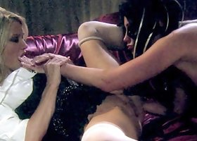 These Three Wenches Know how to Whore It Up! Fourway Lucky Guy gets Doggy style and Blowjobs!