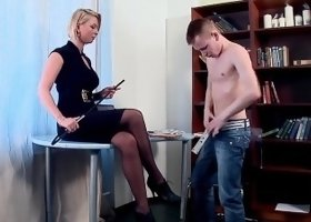 Sissy boy gets feet dominated spanked & facesitting