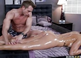 Baby Gets Oiled Up And Fucked Deep
