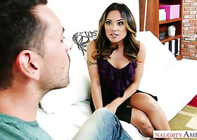 Amazing Asian seductress Kaylani Lei screwed hard in steamy porn clip