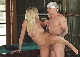 BiBi Jones gets face-fucked and enjoys ardent rear pounding